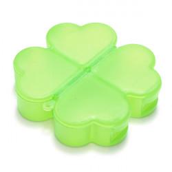 Cute Four-Leaved Clover Shape Portable Pill Storage Box Organizer