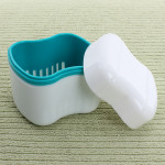 Dental Denture Box Container Orthodontic Dental Blue Case Mouth Tray Health Care