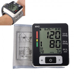 Digital LCD Wrist Sphygmomanometer Blood Pressure Monitor Meter