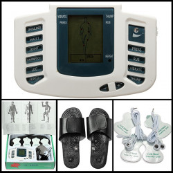 Electronic Digital Full Body Acupuncture Therapy Massager Slipper