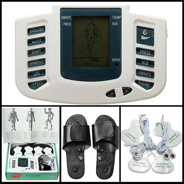 Electronic Digital Full Body Acupuncture Therapy Massager Slipper Health Care
