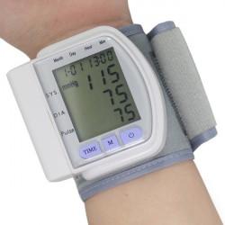 LCD Digital Sphygmomanometer Blood Pressure Monitor Heart Beat Meter