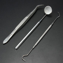 Stainless Steel Dental Instruments Mouth Mirror Probe Plier Kit