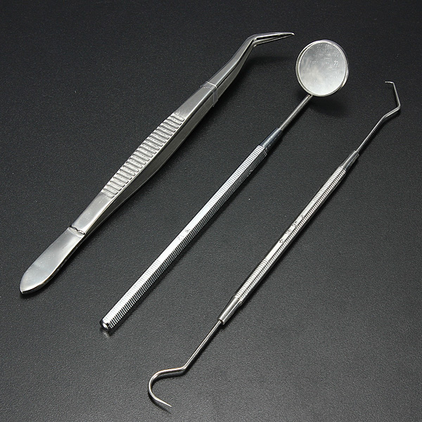 Stainless Steel Dental Instruments Mouth Mirror Probe Plier Kit Health Care