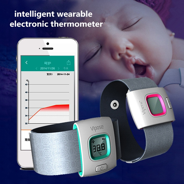 iFever Wearable Bluetooth Smart Baby Monitor Intelligent Thermometer Health Care
