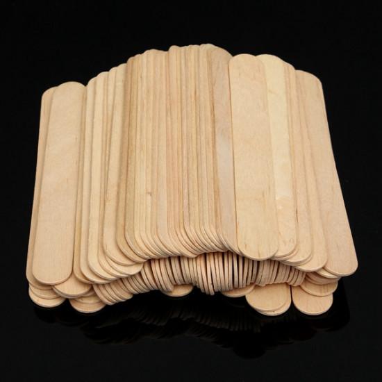 100PCS Wooden Wax Stick Manicure Medical Tongue Depressor Sticks 2021
