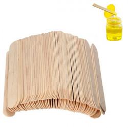 100PCS Wooden Wax Stick Manicure Medical Tongue Depressor Sticks