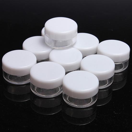10Pcs Mini Portable Empty Pot Makeup Cream Container 2021