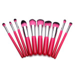 10Pcs Pink Foundation Makeup Tools Cosmetic Brushes Set Kit Makeup