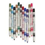 12 Color Plastic Glitter Lip Eyebrow Eyeliner Pencil Pen Cosmetic Set Makeup