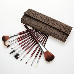 12 pcs Makeup Brush Eye Shadow Brushes Set Kit Letter Case