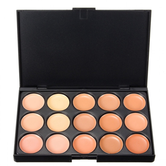 15 Colors Face Camouflage Cosmetic Cream Facial Concealer Palette 2021