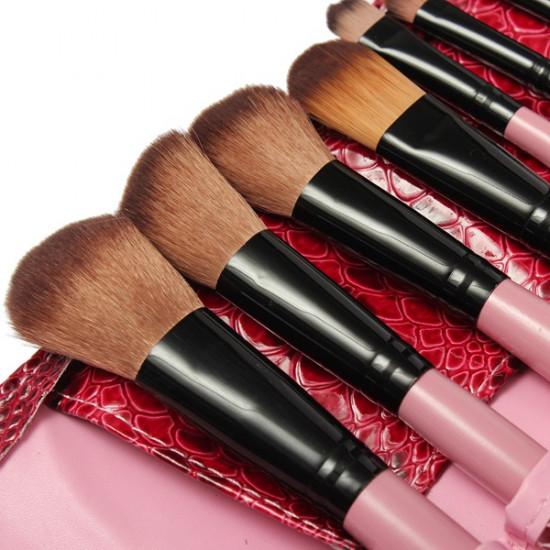 15 pcs Makeup Brush Set Cosmetics Brushes With Snake Pattern Case 2021