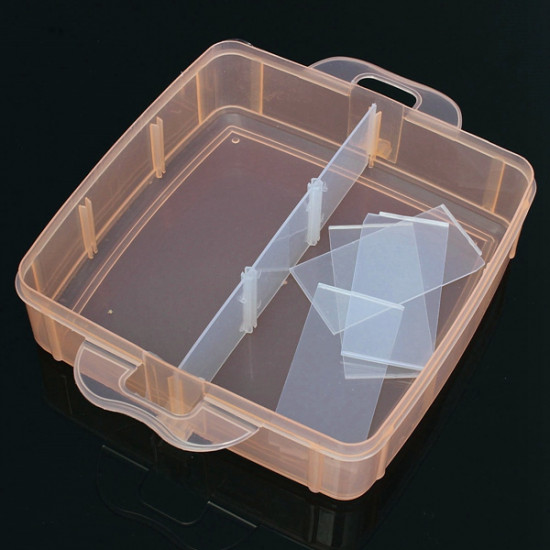 18 Grids Transparent Cosmetic Nail Tips Container Storage Box Case 2021