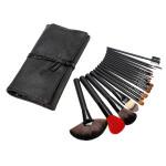 18pcs Pro Portable Makeup Cosmetic Brush Set w leather Case Makeup