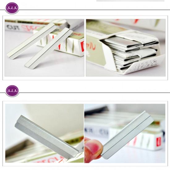 19 In 1 Eyebrow Pencil Shaving Blades Stencil Scissor Set 2021