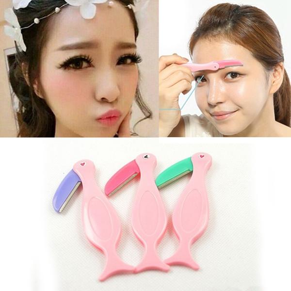 1Pcs Women Folding Eyebrow Razor Trimmer Shaper Shaver Hair Remover Makeup