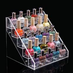 22.5 CM 5 Tiers Acrylic Nail Polish Display Stand Cosmetic Organizer