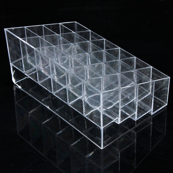 24 Quadrates Acrylic Clear Cosmetic Container Makeup Storage Organizer 2021
