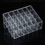 24 Quadrates Acrylic Clear Cosmetic Container Makeup Storage Organizer Makeup