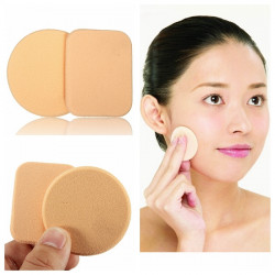 2Pcs Facial Cosmetic Soft Makeup Sponge Powder Puffs Set