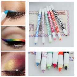 2Pcs Waterproof Glitter Eye Shadow Eyeliner Eye Liner Pen Pencil