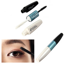 2 Sides Black White Makeup Carbon Fiber Eyelash Mascara