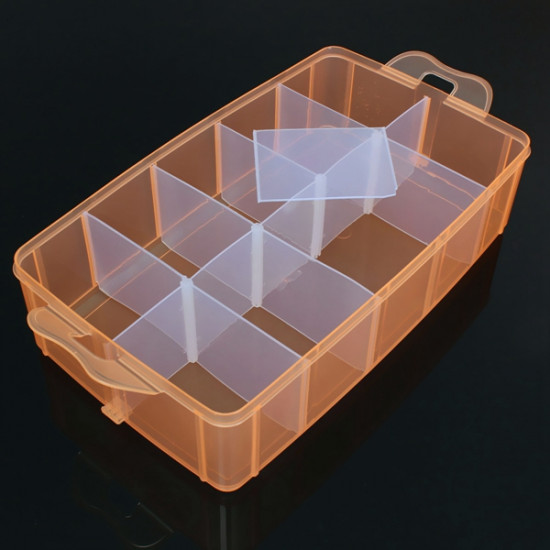 30 Grids Large Size Transparent Cosmetic Nail Tips Container Storage Box