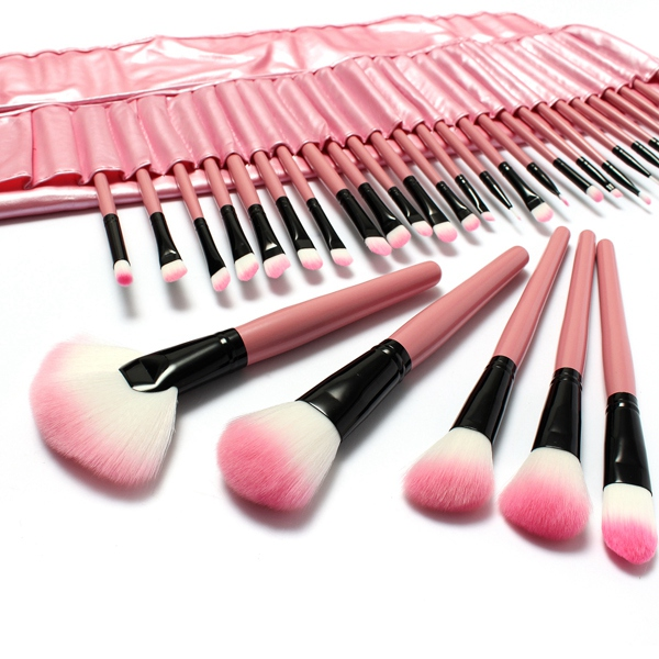 32 Pcs Pink Eyeshadow Eyebrow Blush