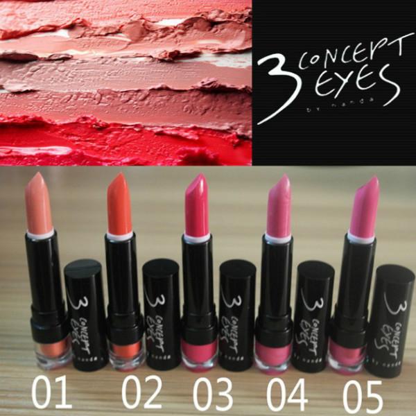 3CE Lipstick Charming Gloss 15 Colors 3 Concept Eyes Makeup