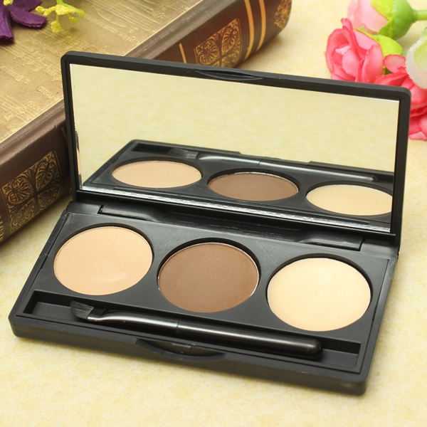 3 Colors Eyebrow Powder Eye Brow Palette Makeup Cosmetic Makeup