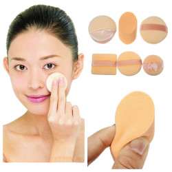 3Pcs Facial Cosmetic Soft Makeup Sponge Powder Puffs Set