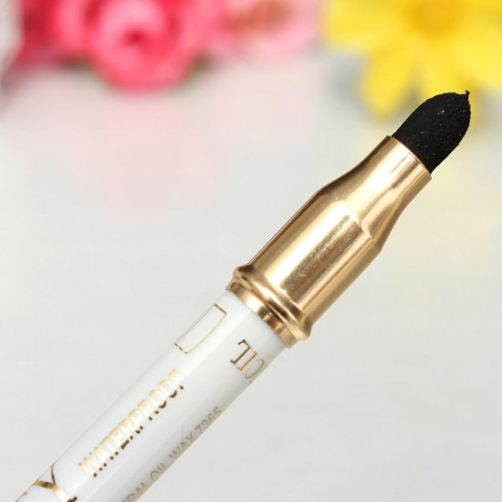 4 Colors 2 In 1 Eyeliner Pencil & Eye Shadow Sponge Pen Makeup Tool 2021