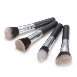 4pcs Fiber Cosmetics Makeup Blush Loose Powder Brush Set