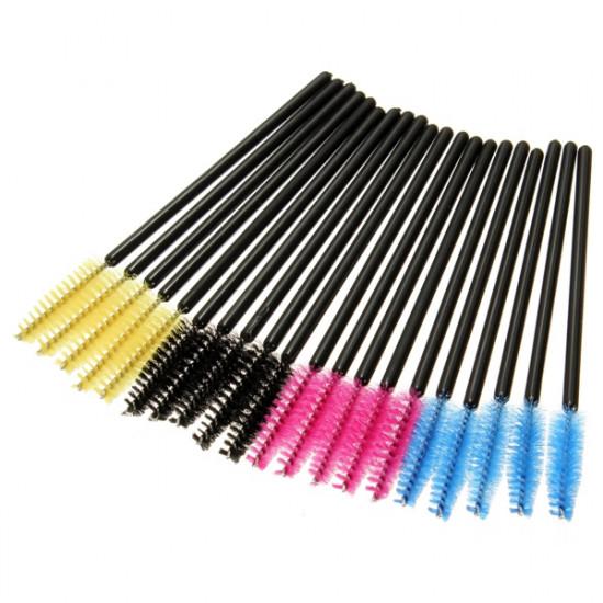 50 pcs Eyelash Eyebrow Makeup Brushes Disposable Mascara Wands 2021