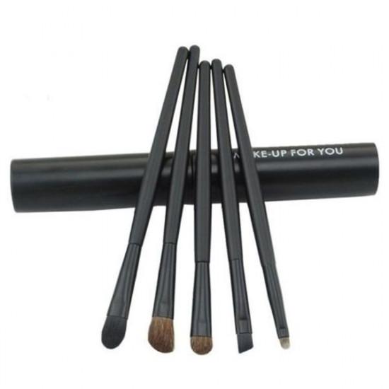 5PCS Eye Cosmetic Makeup Eyeshadow Brush Sets With Cylinder Case 2021