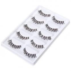 5 Pairs Thick Long Crisscross False Eyelashes Makeup Fake Eye Lashes