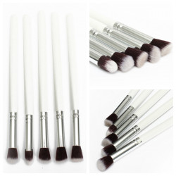 5Pcs Professional Foundation Eyeshadow Blusher Blending Makeup Brush