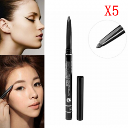 5pcs Waterproof Automatic Eyeliner Pen Long Lasting Eyebrow Pencil