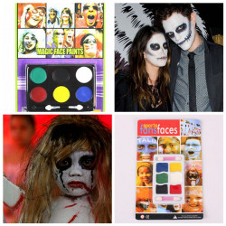 6 Colors Halloween Carnival Face Paint Body Painting Color