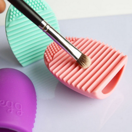 7 Colors Makeup Brushegg Silicone Cosmetic Brush Cleaning Tool 2021