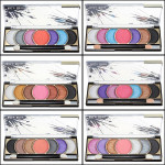 7 Colors Makeup Cosmetic Eyeshadow Powder Palette with Brush Makeup