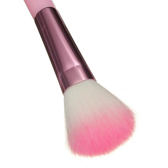 7pcs Cosmetic Makeup Powder Brush Set Foundation Leather Case 2021