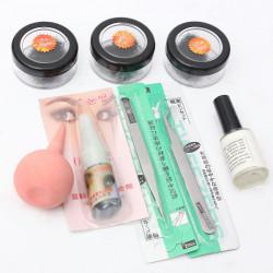 8/10/12mm Black False Eyelashes Adhesives Set Kit