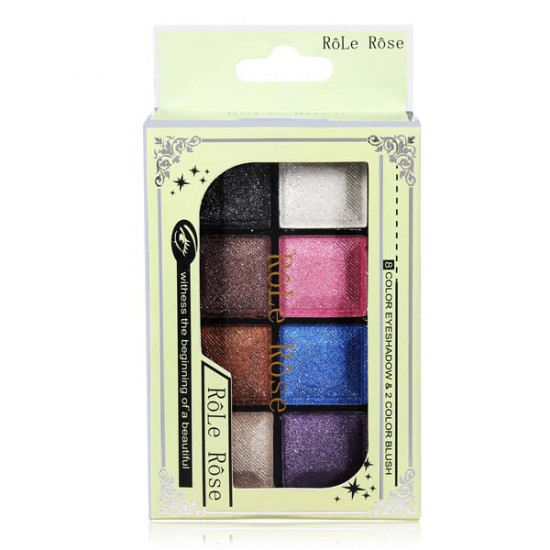 8 Color Eyeshadow Palette And 2 Blush Powder Makeup Cosmetic Suit 2021
