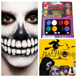 8 Colors Halloween Carnival Face Paint Body Painting Color