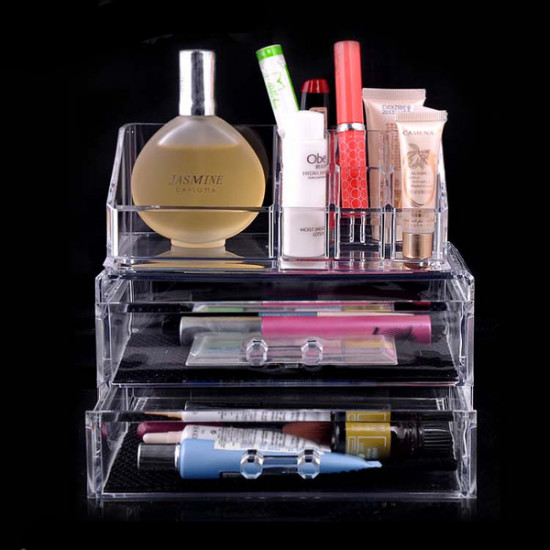 Acrylic Clear Container Make Up Case Cosmetic Storage Holder Organizer 2021