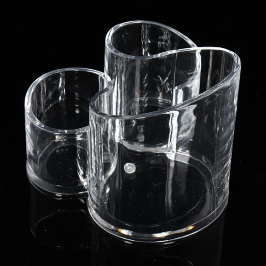 Acrylic Clear Cylindrical Cosmetic Container Makeup Storage Organizer 2021