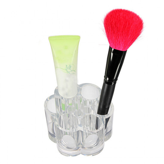 Acrylic Clear Rounded Cosmetic Container Makeup Storage Organizer 2021