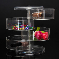 Acrylic Rotating Makeup Cosmetic Storage Tool Case Organizer